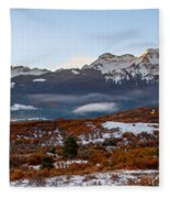 Sunrise On The San Juans Fleece Blanket