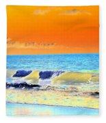 Sunrise On Tybee Island - Photopower 168 Fleece Blanket