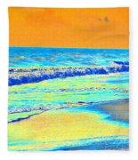 Sunrise On Tybee Island - Photopower 170 Fleece Blanket