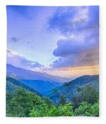 Sunrise Over Blue Ridge Mountains Scenic Overlook  Fleece Blanket