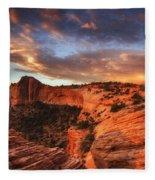 Sunrise Over Canyonlands Fleece Blanket