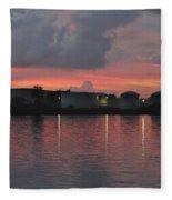 Sunrise Over Cape Fear River Fleece Blanket