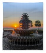 Sunrise Over Charleston Fleece Blanket