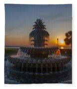 Sunrise Over Downtown Charleston  Fleece Blanket