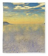 Sunrise Over Glacial Bay Fleece Blanket