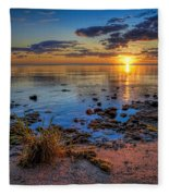 Sunrise Over Lake Michigan Fleece Blanket