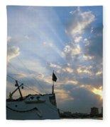 Sunrise Over Philadelphia  Fleece Blanket