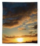Sunrise Over Port Angeles Fleece Blanket