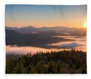 Sunrise Over The Adirondack High Peaks Fleece Blanket
