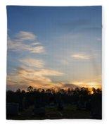 Sunrise Over The Cemetary Fleece Blanket