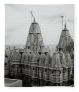 Sunrise Over The Jain Temples Fleece Blanket