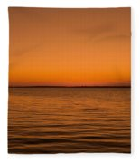 Sunrise Over The Lake Of Two Mountains - Qc Fleece Blanket