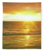 Sunrise Over The Pacific Ocean, Cabo Fleece Blanket
