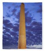 Sunrise Over Washington Monument Fleece Blanket