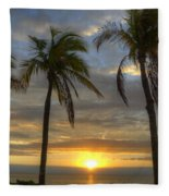 Sunrise Palms Fleece Blanket