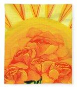 Sunrise Roses Fleece Blanket