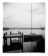 Sunrise Sail Boat Fleece Blanket