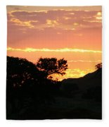 Sunrise Scenery Fleece Blanket