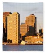 Sunrise, Skyline, Boston Fleece Blanket