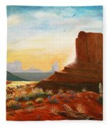 Sunrise Stampede Fleece Blanket