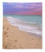 Sunrise Surf At Miami Beach  Fleece Blanket