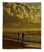 Sunrise Surf Fishing Fleece Blanket