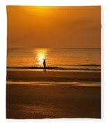 Sunrise Walk Fleece Blanket