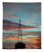 Sunrise Windmill Fleece Blanket