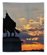 Sunrise With Saint Louis The 9th Fleece Blanket