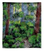 Suns Rays - Forest - Steel Engraving Fleece Blanket