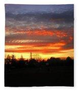 Sunset 02 28 13 Fleece Blanket
