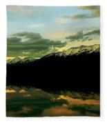 Sunset 1 Rainy Lake Fleece Blanket