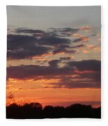 Sunset -2013-09-21 Fleece Blanket