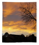 Sunset 3 Fleece Blanket