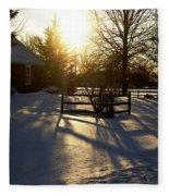 Sunset After The Snow Storm Fleece Blanket
