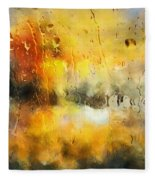 Sunset After The Storm Abstract Fleece Blanket