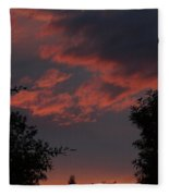 Sunset After The Storm Fleece Blanket