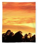 Sunset And Beautiful Clouds Fleece Blanket