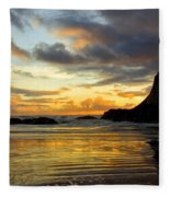Sunset And Seal Rock Fleece Blanket