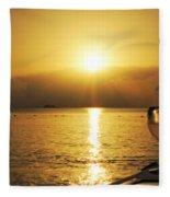 Sunset And Wine Fleece Blanket
