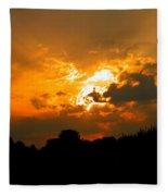 Sunset Angel Fleece Blanket