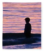 Sunset Art - Contemplation Fleece Blanket