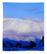 Sunset At Alabama Hills And Inyo Fleece Blanket