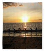 Sunset At Anaeho'omalu Bay Fleece Blanket