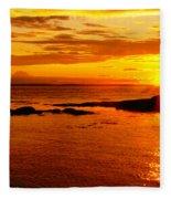 Sunset At Bic Fleece Blanket