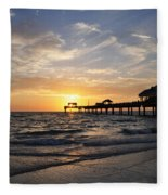 Sunset At Clearwater Fleece Blanket