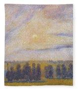 Sunset At Eragny, 1890 Fleece Blanket