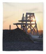 Sunset At Jones Beach Fleece Blanket
