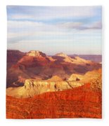 Sunset At Mather Point Grand Canyon Fleece Blanket