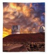 Sunset At Mauna Kea Summit Fleece Blanket